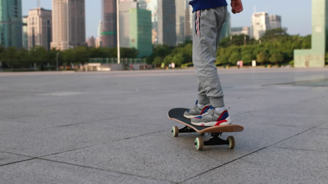 kids skateboard - skateboard stock videos & royalty-free footage