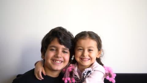 kids smiling movie - turkish ethnicity stock videos & royalty-free footage