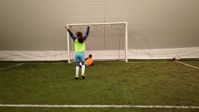 kid's soccer training - girls stock videos & royalty-free footage