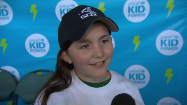 INTERVIEW Kids talk about taking part in a Kid Power day and meeting Chicago White Sox players at UNICEF Kid Power Day At The Chicago White Sox at...