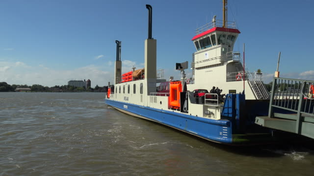 Kiel Canal Ferries at Brunsbüttel, Diethmarschen, Schleswig-Holstein, Germany