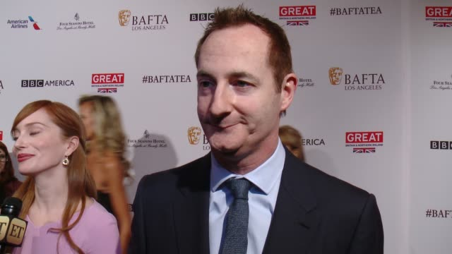 interview kieran bree on being at the event at the bafta los angeles awards season tea party at four seasons hotel los angeles at beverly hills on... - tea party stock videos and b-roll footage