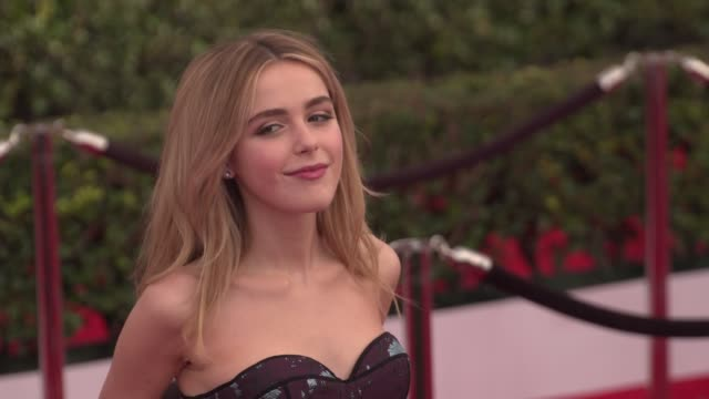kiernan shipka at the 22nd annual screen actors guild awards - arrivals at the shrine auditorium on january 30, 2016 in los angeles, california. 4k... - shrine auditorium stock videos & royalty-free footage