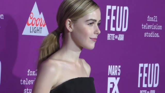 Kiernan Shipka at the Premiere Of FX Network's 'Feud Bette And Joan' at TCL Chinese Theatre on March 01 2017 in Hollywood California