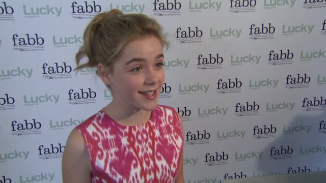 Kiernan Shipka on how she feels to be participating in the first West Coast Lucky fabb event what she thinks about being labeled a fashion icon how...