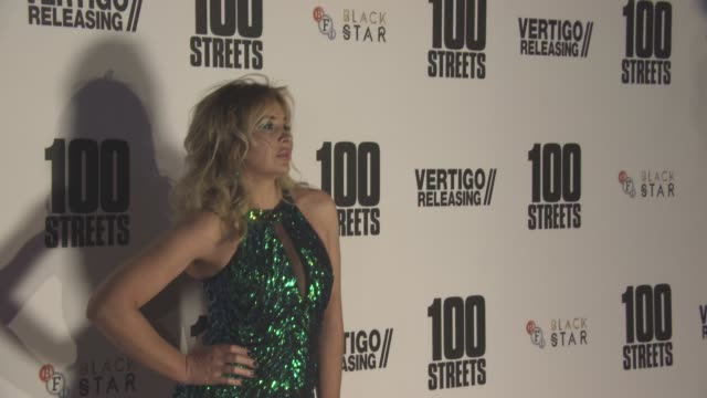 kierston wareing at '100 streets' - uk film premiere at bfi southbank on november 08, 2016 in london, england. - bfi southbank stock videos & royalty-free footage
