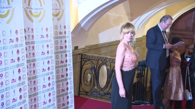 kierston wareing at national film awards at porchester hall on march 31, 2015 in london, england. - ポーチェスター点の映像素材/bロール