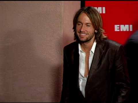 kieth urban at the emi post-grammy awards bash at the beverly hilton in beverly hills, california on february 13, 2005. - emi grammy party stock videos & royalty-free footage