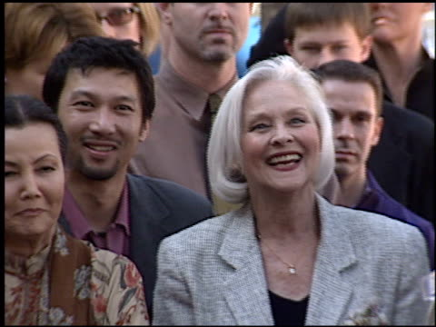 kieuchina at the dediction of tippi hedren's walk of fame star at the hollywood walk of fame in hollywood, california on january 30, 2003. - tippi hedren stock videos & royalty-free footage