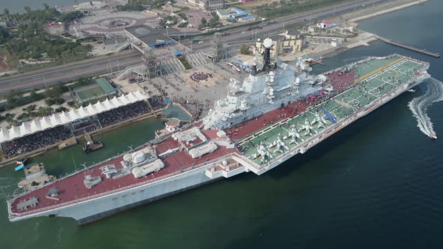kiev aircraft carriers - warship stock videos & royalty-free footage