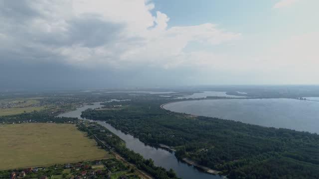 vídeos de stock e filmes b-roll de kiev suburb after a summer thunderstorm - ucrânia