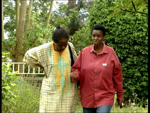 kigali: int esther mujawayo interview sot - if you have not protected somebody in 1994, at least stop them dying ten years later, but women are still... - キガリ点の映像素材/bロール