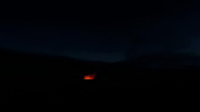 Kilaeua volcano sunset