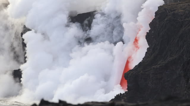 "kilauea ""fire hose"" lava flow - lava stock videos & royalty-free footage"