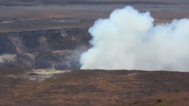 kilauea fumarole dayshot - volcanic crater stock videos & royalty-free footage