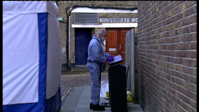 decapitated body found england london kilburn kingsgate place ext police incident tent at site where decapitated body found and forensic officer at... - decapitated stock videos & royalty-free footage