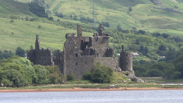 kilchurn castle - scotland stock videos & royalty-free footage