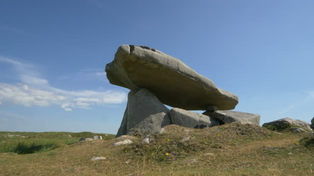 kilclooney dolmen slider move, donegal ireland - obelisk stock videos & royalty-free footage