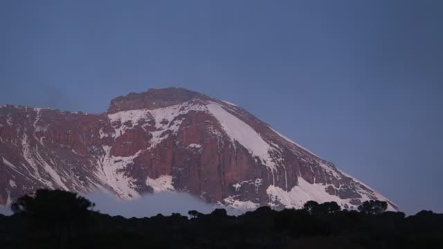 kilimanjaro peak - mt kilimanjaro stock videos & royalty-free footage