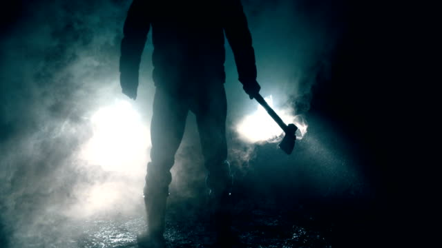 killer at night - kitchen knife stock videos & royalty-free footage
