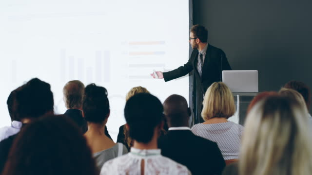 killer presentations, how the pro does it - leadership stock videos & royalty-free footage