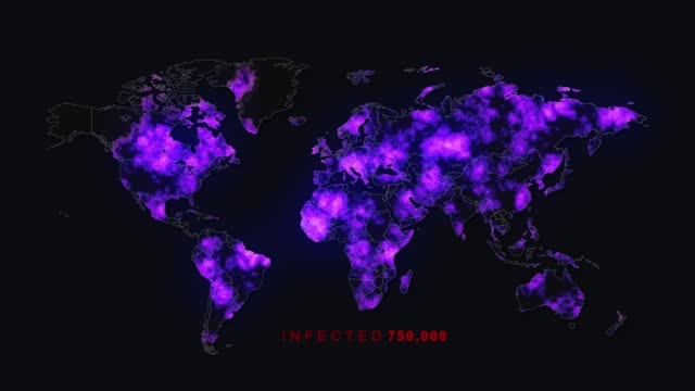 killer virus spreads to worldwide - origins stock videos & royalty-free footage