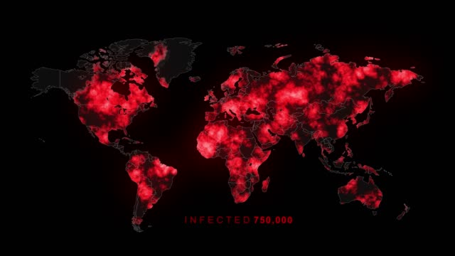 killer virus spreads to worldwide - map stock videos & royalty-free footage