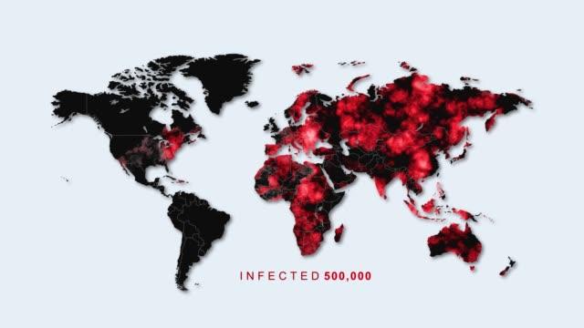 vídeos de stock e filmes b-roll de killer virus spreads to worldwide - criação