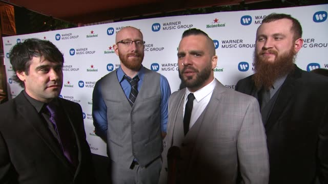 killswitch engage on the best part of the grammy awards, their favorite part of grammy weekend, what's next for them in 2014, and the pros and cons... - pros and cons stock videos & royalty-free footage