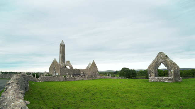 Kilmacduagh Monastery In County Galway
