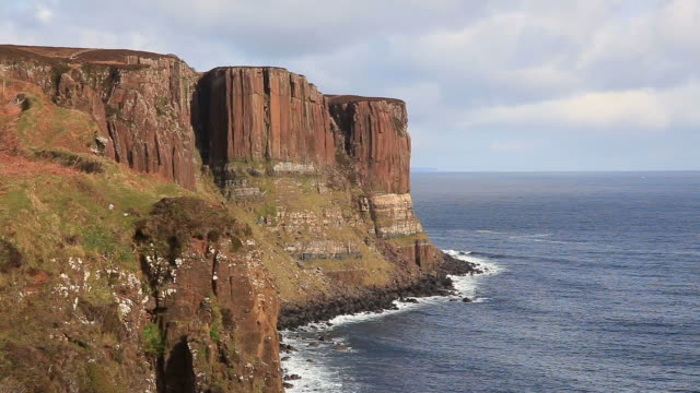 kilt rock skye scozia - scozia video stock e b–roll