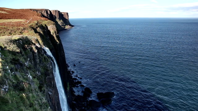 kilt rock. isle of skye, scotland. - hebrides stock videos & royalty-free footage