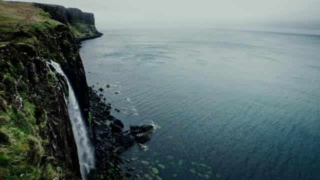 kilt rock, isle of skye - skye stock videos and b-roll footage