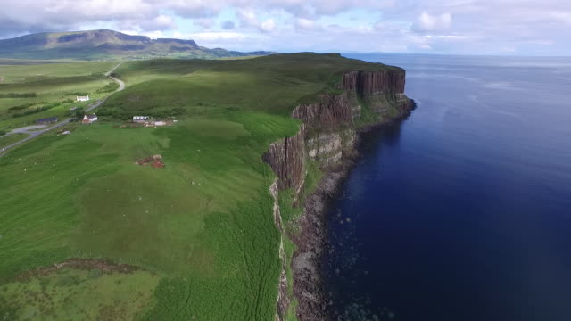 Kilt Rock waterfall, Isle of Skye, Scotland, July 2015