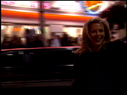 kim basinger at the 'interview with the vampire' premiere at the mann village theatre in westwood california on november 9 1994 - レジェンシービレッジシアター点の映像素材/bロール