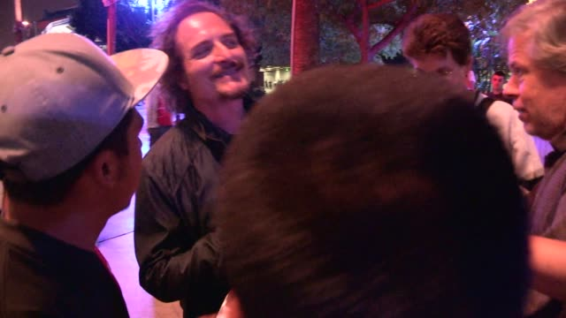 Kim Coates greets fans while departing from LA KingsNY Rangers Game 2 at Staples Center on June 07 2014 in Los Angeles California