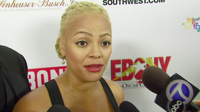 kim fields about ebony's event play she is currently working on being pregnant and engaged predicts ellen degeneres will be very funny hosting the... - ellen degeneres stock-videos und b-roll-filmmaterial