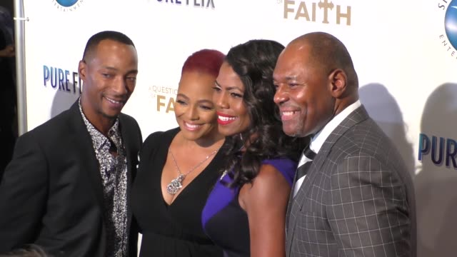 kim fields omarosa manigaultnewman at the premiere of pure flix entertainment's 'a question of faith' on september 27 2017 in los angeles california - omarosa manigault newman stock videos & royalty-free footage