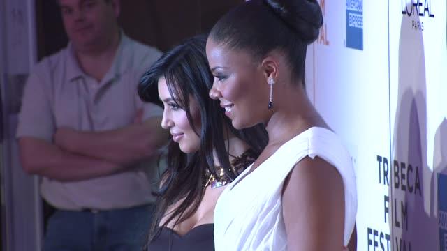 Kim Kardashian and Sanaa Lathan at the 8th Annual Tribeca Film Festival 'Wonderful World' Premiere at New York NY