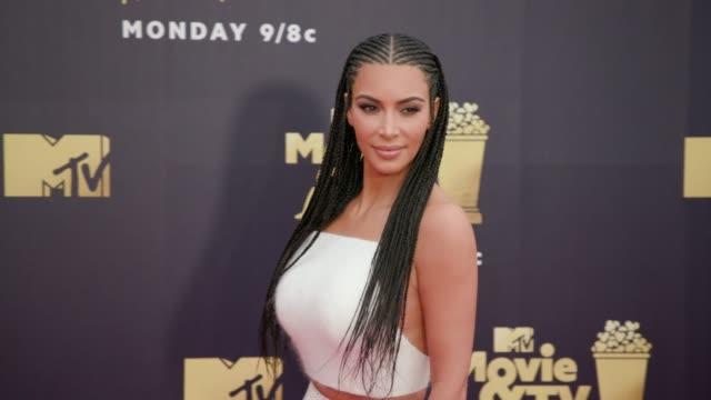 Kim Kardashian at 2018 MTV Movie TV Awards Arrivals at Barker Hangar on June 16 2018 in Santa Monica California