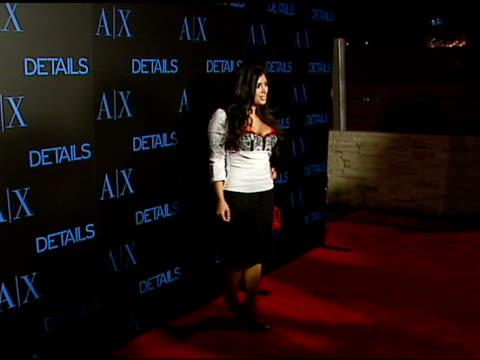 kim kardashian at the armani exchange and details magazine 'insider' at area in west hollywood california on december 7 2006 - 2006 stock videos & royalty-free footage