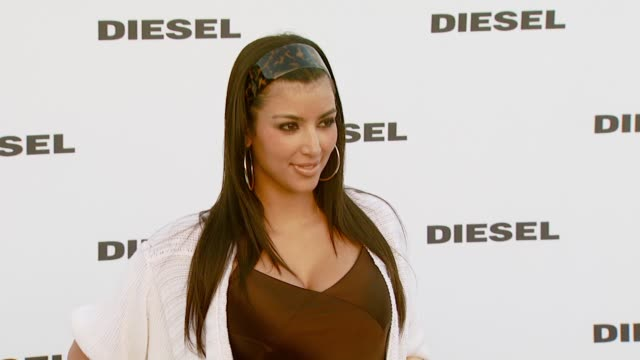 kim kardashian at the diesel celebrates the opening of the melrose place flagship store at diesel melrose place in los angeles california on may 30... - 2007 stock videos & royalty-free footage