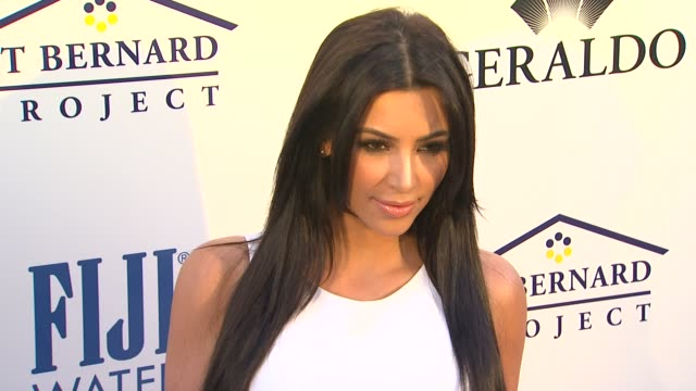Kim Kardashian at the Southern Style St Bernard Project Event With Ambassador Britney Spears at Beverly Hills CA