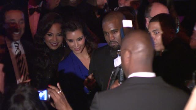 kim kardashian kanye west smokey robinson ashanti and nelly at angel ball 2012 benefiting gabrielle's angel foundation for cancer research in new... - smokey robinson stock-videos und b-roll-filmmaterial