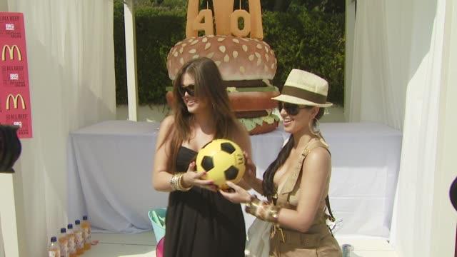 Kim Kardashian Khloe Kardashian at the 40th Birthday Party for McDonald's_ Big Mac_ at Malibu CA