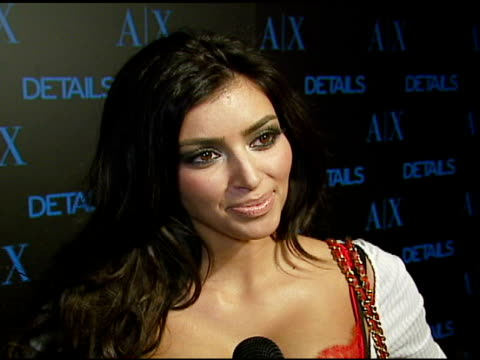 kim kardashian on details magazine trends she's tapping into holiday shopping at the armani exchange and details magazine 'insider' at area in west... - 2006 stock videos & royalty-free footage