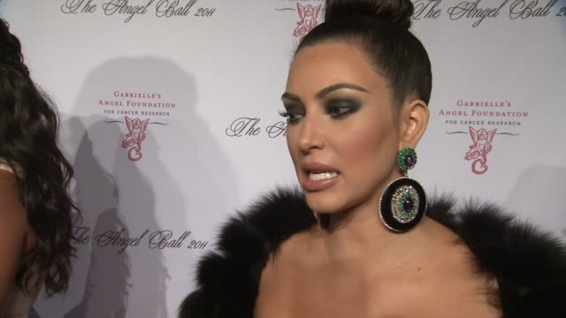 kim kardashian on her goal for the night at the 2011 angel ball to benefit gabrielle's angel foundation at new york ny. - インタビュー素材点の映像素材/bロール