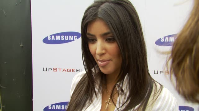 kim kardashian on what's most looking forward to what she loves about gnarls barkley at the samsung and sprint present the upstage country club at... - 2007 stock-videos und b-roll-filmmaterial