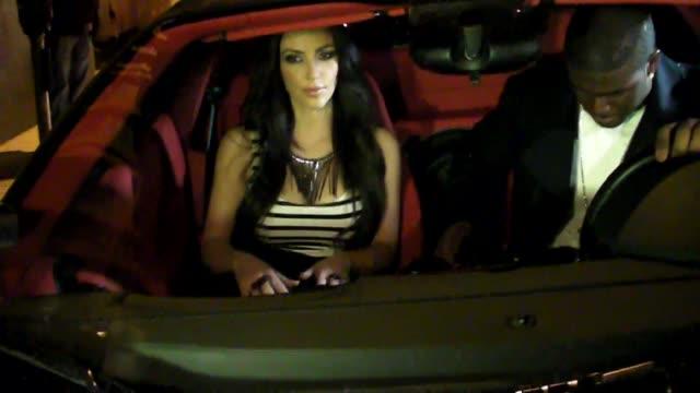 kim kardashian outside nobu restaurant at the celebrity sightings in los angeles at los angeles ca - nobu restaurants stock videos & royalty-free footage