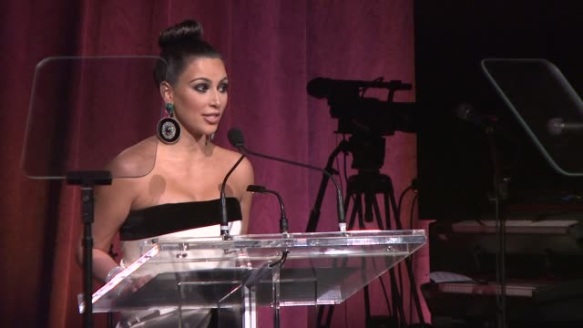kim kardashian reflects on her father's battle with cancer at the 2011 angel ball to benefit gabrielle's angel foundation at new york ny - angel点の映像素材/bロール
